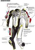 Spyke Aragon Race Black White Fluo Red (52) - Mono de piel para mujer