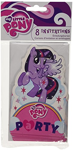 Amscan International 8 My Little pony stand-up laadt en enveloppen