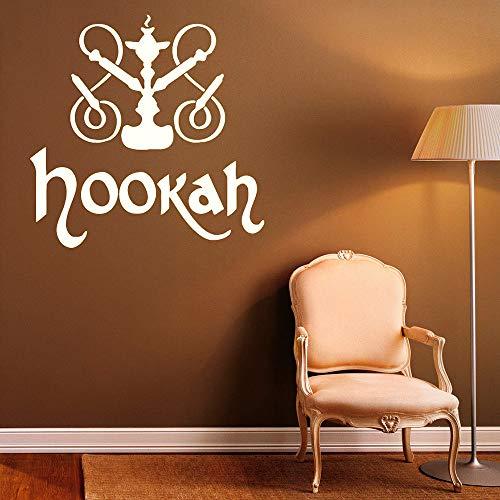 Etiqueta de la Pared de la cachimba Pegatinas de Vinilo Relajarse árabe decoración Interior del hogar Sala de Estar Shisha Pared Tatuaje Pegatina Dormitorio café 57x57 cm