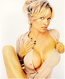 Pamela Anderson Chest Up Shot Deep Cleavage Hands Near Breasts 8 x 10 Inch Photo