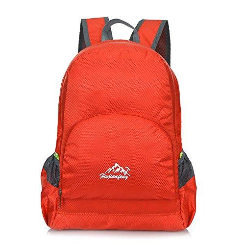 Minetom 35L Leggera Campeggio Viaggio Pack Trekking Escursionismo Montagna Alpinismo Backpack Bag Impermeabile Zaino Ciclismo Rosso One Size(26*40*15 Cm)