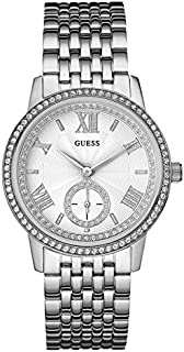 Guess Casual Watch Analog Display Quartz For Women W0573L1, Silver Band, Analog Display