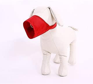 Bozales para perros Bozal de malla para perros con correa superior para perros pequeños, medianos y grandes, evite morder, ladrar y masticar rojo (circunferencia del alambre del núcleo: 30-34 cm)