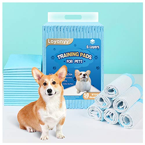 Loyanyy 6 Layers Puppy Pads Potty Pads for Dogs Training Pee Pads for Dogs Quick Absorb 18