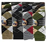 Lot de 12 paires de chaussettes en coton pour homme Motif losanges Taille 39-45 -  -  Pack of 6