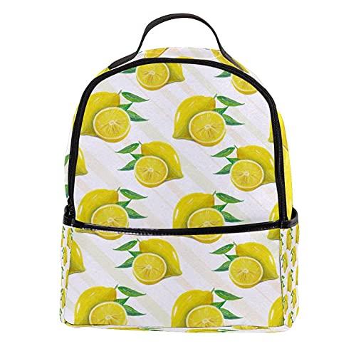 PLOKIJ Kindergartenruck sack Sommerfrucht-Zitrone-Schnittmuster Kindergartenrucksack für 2-6 Jährige Kinder im Kindergarten und Kinderrucksack für die Kita 30 CM