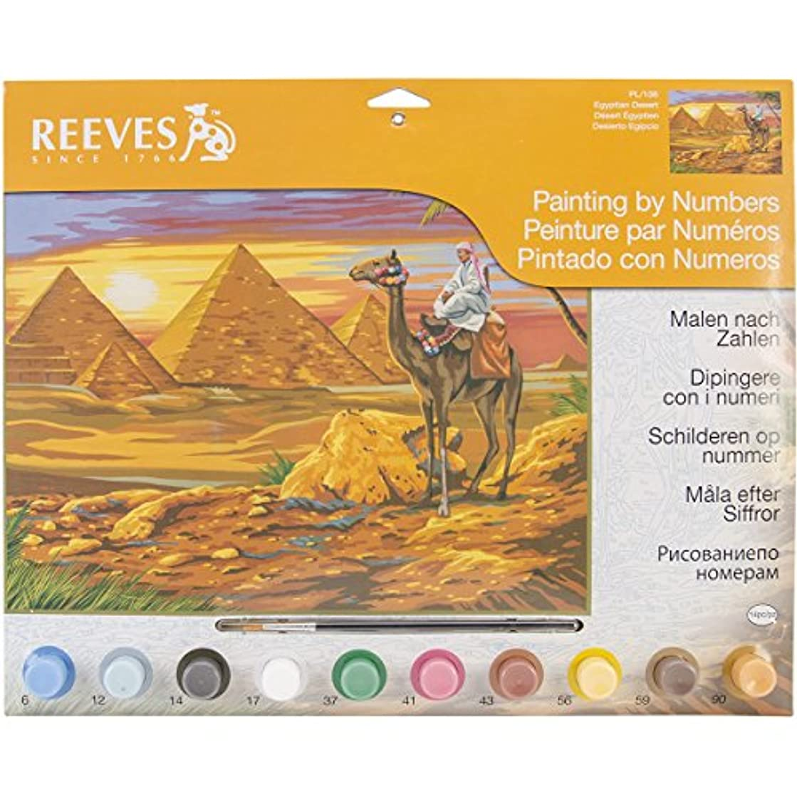 Reeves Large Acrylic Painting By Numbers - Egyptian Desert