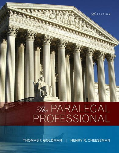Compare Textbook Prices for The Paralegal Professional 5 Edition ISBN 9780134130842 by Goldman, Thomas F.,Cheeseman, Henry R.