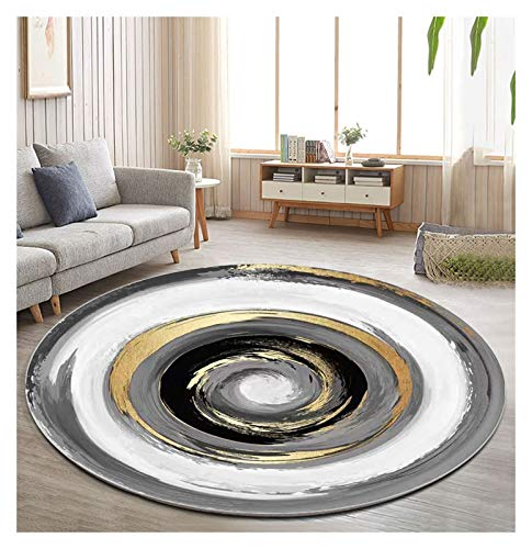 WZLL Round Area Rug Soft Modern Area Rugs Washable for Living Room Bedroom Restaurant Floor Area Mat, Ø80cm/100cm/120cm/140cm/160cm/180cm/200cm (Color : A, Size : Ø80cm)