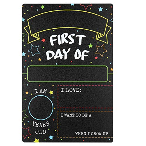 First Day Last Day of School Chalkboard Double Sided Sign - 12' x 7.9'