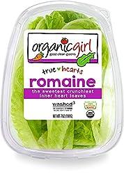 Organicgirl Romaine Heart Leaves, 7 oz Clamshell
