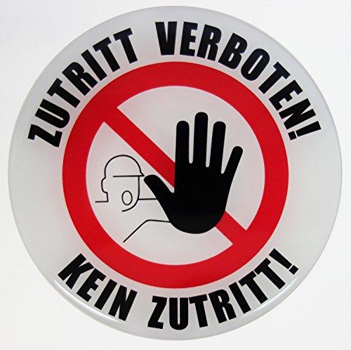 Stickers 3D 900009 verbodsbord waarschuwing toegang verboden geen toegang - uitstekende bescherming tegen weersinvloeden geen goedkope foliestickers