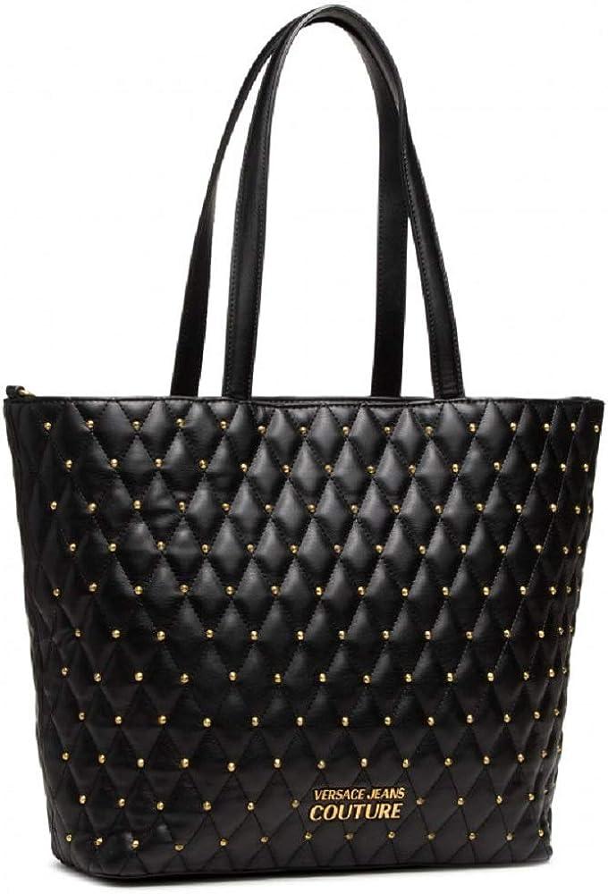 Versace jeans couture borsa a spalla da donna con borchie in pelle sintetica E1VWABQ571881899