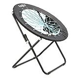 Klarfit Bounco Bungee Chair Stuhl Klappstuhl (aus strapazierfähigen Bungee-Seilen, 81 x 41 x 85 cm,...