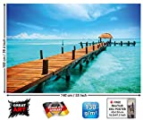 XXL Poster Steg ins Paradies Strand Meer Stairway Design by GREAT ART 140 cm x 100 cm - 3