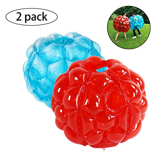 SUNSHINE-MALL Bubble Balls for Kids,Inflatable Buddy Bumper Balls Sumo Game Kids Soccer Ball Giant Human Hamster Knocker Ball Body Zorb Ball for Kids & Adults Outdoor Team Gaming Play.(2pcs 24inch)