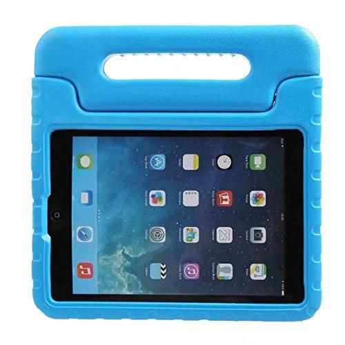 BelleStyle Funda para iPad 2018/2017 9.7 Pulgada - EVA Prueba de Choques Protector Niños Case Convertible Manejar Cubierta de Soporte para iPad 9.7 Pulgadas 2018/2017, iPad Air 2 y iPad Air (Azul)