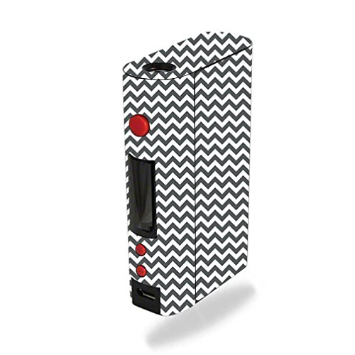 MightySkins Skin Compatible with Kanger KBOX 200W – Gray Chevron | Protective, Durable, and Unique Vinyl Decal wrap Cover | Easy to Apply, Remove, and Change Styles | Made in The USA