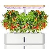 Ulikey Sistemi da Giardino Intelligente con Lampada LED per Piante, Sistema di Coltivazione Idroponica con 12 Baccelli, Kit per Germinazione, Smart Garden Planter per Casa e Cucina (Bianca)