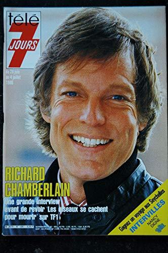 Télé 7 Jours 1361 * 1986 * Richard CHAMBERLAIN Michel BOUJENAH Dick RIVERS Bernard TAPIE