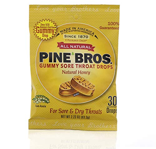 Pine Bros. Softish Throat Drops 30 Drops - Pack of 2