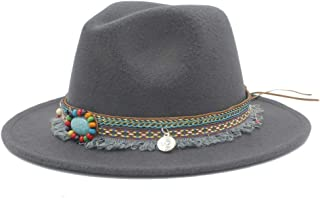2019 Mens Womens Hats Womens Fashion Winter Fedora Hat for Women Lady Outdoor Sun Beach Hat Travel Pop with Tassel Ribbon Panama Jazz Hat Wide Brim Hat Fascinator