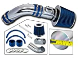 Rtunes Racing Short Ram Air Intake Kit + Filter Combo BLUE Compatible For 04-07 Honda Accord2.4L L4 SULEV