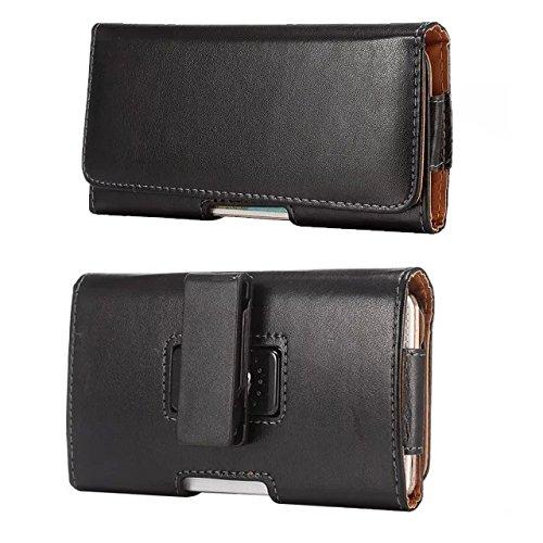 Funda horizontal de piel sintética con clip giratorio para cinturón para Samsung Galaxy S10 / S9+ / S20 / A51 / A40 / Note 10+ / OnePlus 7 / iPhone 8 Plus / 7 Plus/BLU VIVO 6 (negro)
