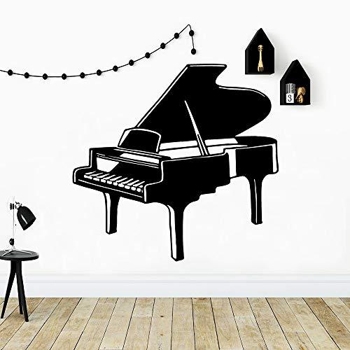 BailongXiao Moderne Musik Klavier wohnkultur Wohnzimmer Firma Schule büro dekoriert Applique Vinyl Kunst Aufkleber 50,4X52,2 cm