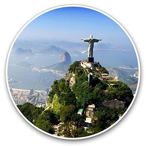 Pegatinas de vinilo (juego de 2) 7,5 cm - Cristo Redentor Brasil #8910