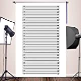 WOLADA 5X7FT Mugshot Backdrop Height Chart Backdrop Poster for Birthday Bachelorette Trash Bash Party Portrait Supplies Prison Police Lineup Background Photo Studio Props 11087