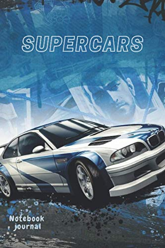 BMW supercar: Notebook journal need for speed supercar for students and teachers, writers, professionals, teachers, and education.