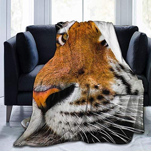 NOBRAND Manta De La Siesta Felpa Sofás Franela Tigre de Bengala Buen sueño L127cm x W102cm