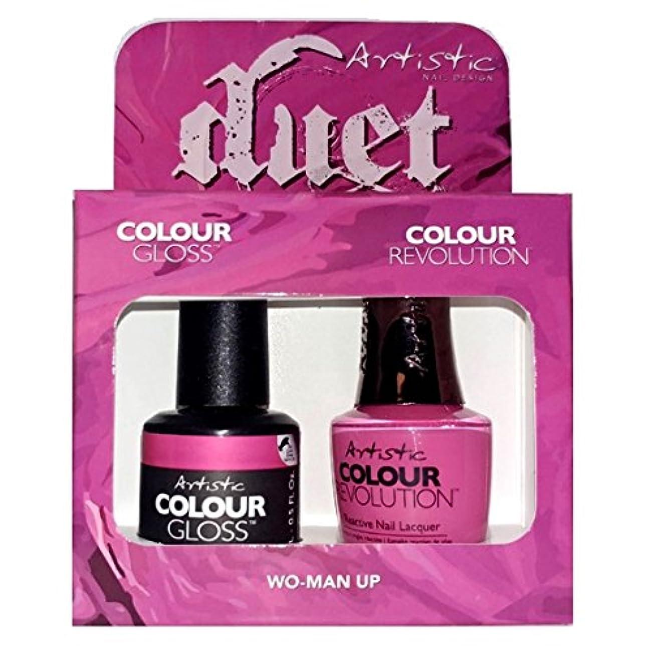 伝記オペラレンズArtistic Nail Design - Duet Gel & Polish Duo - Wo-Man Up - 15 mL / 0.5 oz each