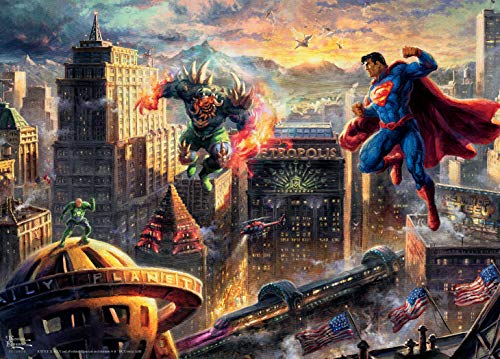Ceaco Thomas Kinkade DC Collection Superman - Man of Steel Jigsaw Puzzle, 1000 Pieces (3154-4)