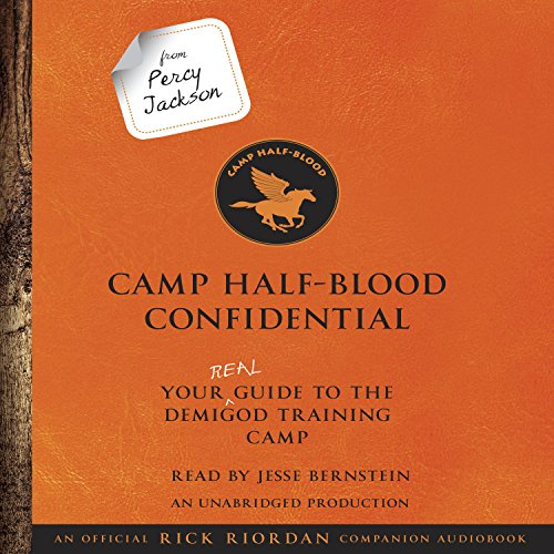 From Percy Jackson: Camp Half-Blood Confidential audiobook cover art