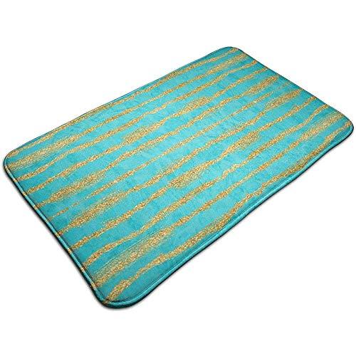 Reizigers dun goud glitter strepen turkoois marktplaats matten niet slippen vloer ingang deurmat binnen/buiten