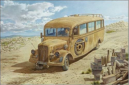Roden 808 - Kit Modelo Opel Blitz Modelo de 3,6-47 Omnibus W39 Lude Ludewig Construido Finales, Gris