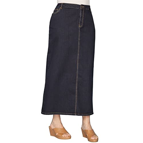 ac630dd14f6d Jessica London Women s Plus Size True Fit Denim Maxi Skirt