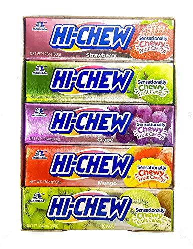 Morinaga Hi-chew Fruit Chews Assorted Fruit Flavors 1.76oz (50g) (Pack of 10) [Misc.]