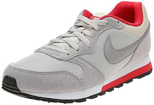 Nike Md Runner 2, Herren Gymnastikschuhe, Beige (light bone/matte silver-action red-white), 41 EU