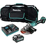 Makita GAG10M1 40V Max XGT Brushless Lithium-Ion 9 in. Cordless Paddle Switch Angle Grinder Kit with Electric Brake and AWS (4 Ah)