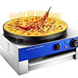 Daily Accessories 17' Commercial Electric Crepe Maker Nonstick Electric Pancakes...