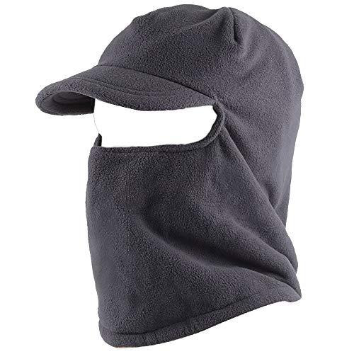 ThreeH Fleece pasamontañas Sombrero con Visera Brim Cortavientos máscara Cara Calentador de Cuello FM22