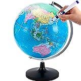 BD.Y Globo, Globo terráqueo 32cm HD Grande Globo de enseñanza Chino e inglés para Instrumento de enseñanza de geografía