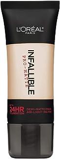 L'Oréal Paris Infallible Pro-Matte Liquid Longwear Foundation Makeup, 101 Classic Ivory, 1 fl. oz.