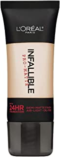 L'Oreal Paris Cosmetics Infallible Pro-Matte Foundation Makeup - Classic Ivory