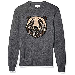 Amazon Brand – Goodthreads Men's Soft Cotton Graphic Crewneck Sweater