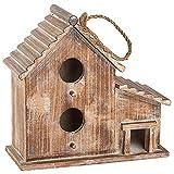 Country Casa - Caseta para pájaros (madera doble)