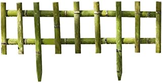 LPYMX picket fence Bamboo garden lawn edge flexible decoration natural border grass landscaping picket fencing (Size : 90...